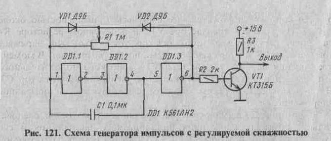 генератор импульсов без